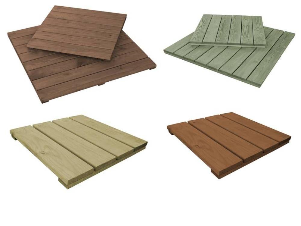 Pressure impregnated patio tiles